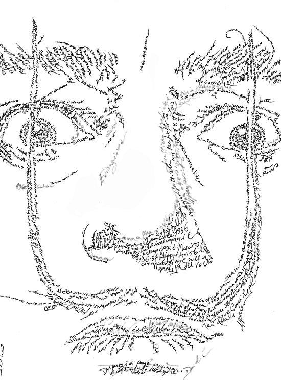 Salvador Dalì WordsPortrait Art Print