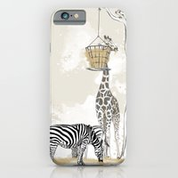 iPhone & iPod Case featuring Zoo : Tigre, Zèbre, Girafe by Angy'art