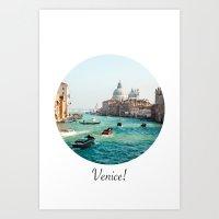 Venice! Art Print