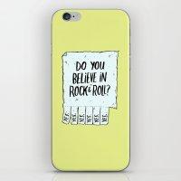 Believe In Rock & Roll iPhone & iPod Skin