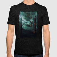 In The Woods Tonight Mens Fitted Tee Tri-Black SMALL