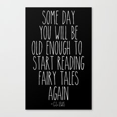 Old Enough for Fairy Tales Canvas Print