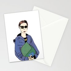 Bag Lady Blue Stationery Cards