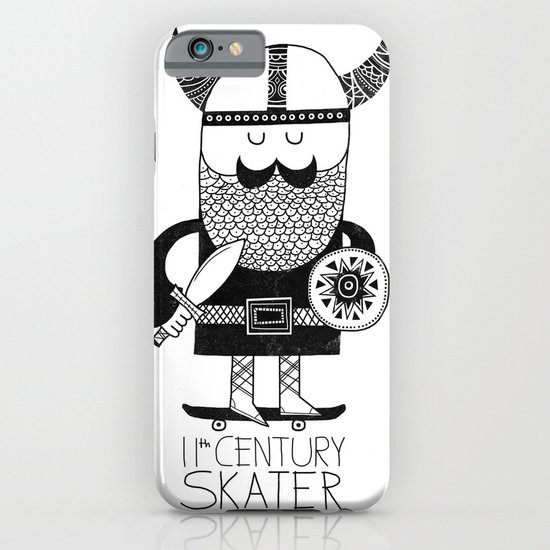 11th Century Skater - White iPhone & iPod Case