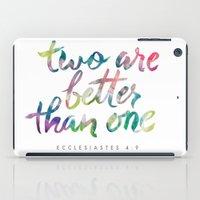 Ecclesiastes 4:9 iPad Case