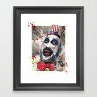 Framed Art Print featuring Captain Spaulding -The D… by CHRIS MASON