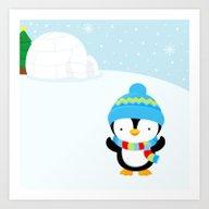 Cute Penguin Boy #1 Art Print