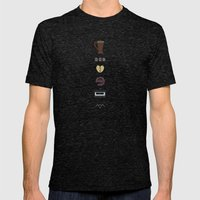 Twin Peaks Mens Fitted Tee Tri-Black SMALL