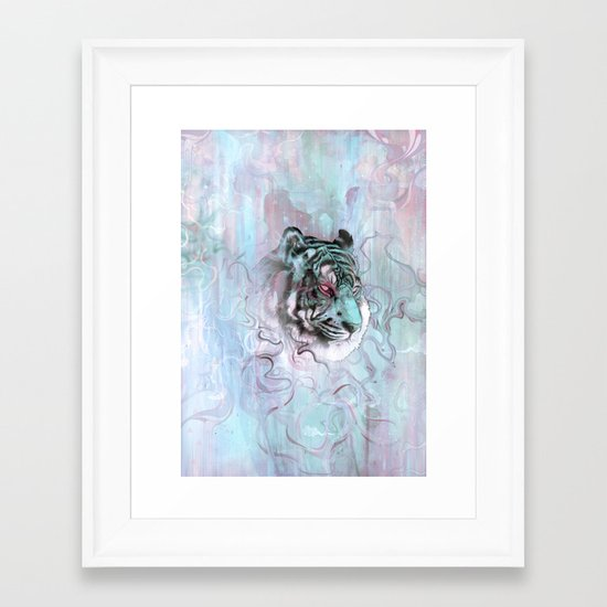 Illusive By Nature (Blue) Framed Art Print