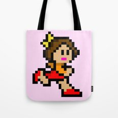 Pixel Girl Running 3 Tote Bag