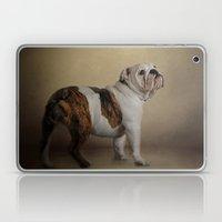 I Think I Smell A Treat - Bulldog Puppy Laptop & iPad Skin