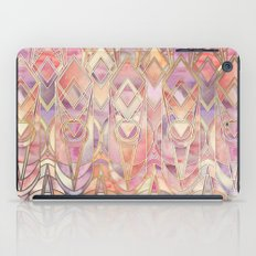 Glowing Coral and Amethyst Art Deco Pattern iPad Case