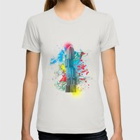 IFC Hong Kong Abstract Womens Fitted Tee Silver SMALL