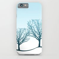 iPhone & iPod Case featuring Twin Trees by goguen