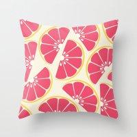 Citrus: Grapefruit Throw Pillow