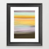 Bright Sunrise Abstract … Framed Art Print