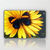 Butterfly on yellow Laptop & iPad Skin