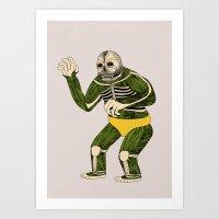 The Original Glowing Sku… Art Print