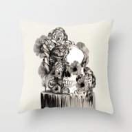 Throw Pillow featuring Life On A Pedestal, Flor… by Kristy Patterson Des…