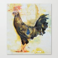 skinny rooster Canvas Print