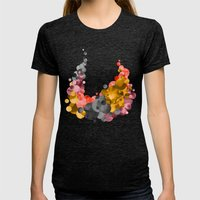 Cradle & Moon Womens Fitted Tee Tri-Black SMALL