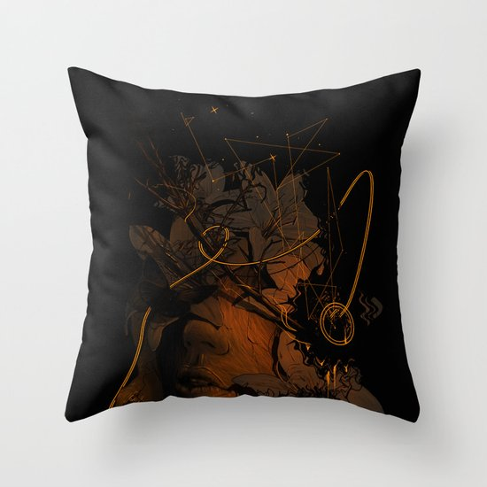 The Lost Track Throw Pillow