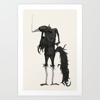 an old friend Art Print