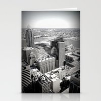 Cincinnati - Downtown #3 Stationery Cards
