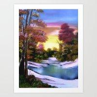 First Snows of Autumn Art Print