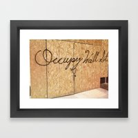 Occupy Wall Street On St… Framed Art Print