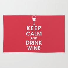 Keep Calm and Drink Wine Rug
