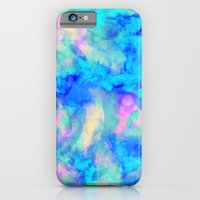 couple iPhone & iPod Cases featuring Electrify Ice Blue by Amy Sia