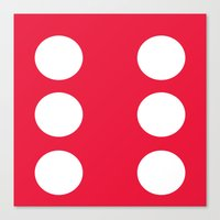 Red Dice 6 Canvas Print