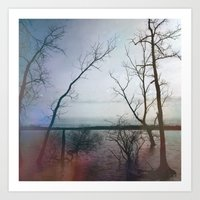 Kindred Spirits - Blue Art Print