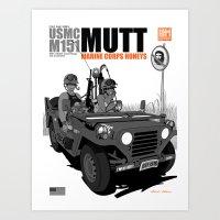 Marine Corps Honeys - Bl… Art Print