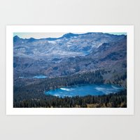 Mountain Top Lakes Art Print