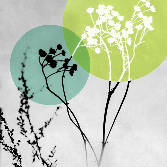 Abstract Flowers 2 Art Print