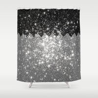 Chevron Universe Shower Curtain