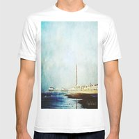 On The Front Textured Fi… Mens Fitted Tee White SMALL