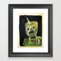 Horned Monster Framed Art Print