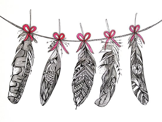 Feather Bunting Art Print