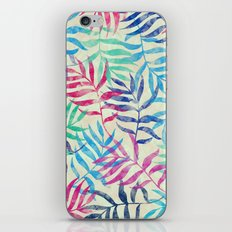 Watercolor Tropical Palm Leaves iPhone & iPod Skin