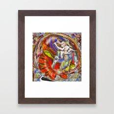 Energy Crossing Framed Art Print