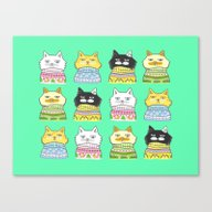 Sweater Cats - It's The … Canvas Print