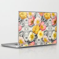 Laptop & iPad Skin featuring Collage Of Poppies And P… by Micklyn