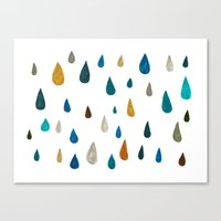 raindrops - green Canvas Print