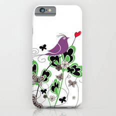 Vintage Retro Text Bird and Butterfly with Heart: Flutter By iPhone 6s Slim Case