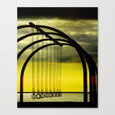 Beach Rings Canvas Print