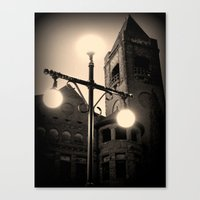 Preston Castle ~ twilight exterior Canvas Print
