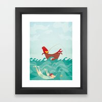 Seafood is Overrated Framed Art Print